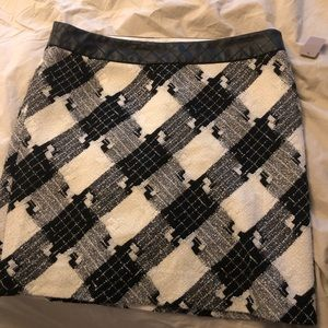 White House Black Market  plaid boot skirt sz 14
